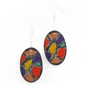 Stained Glass Look Earrings